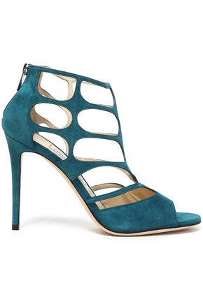 JIMMY CHOO Cutout suede sandals