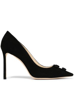 JIMMY CHOO Appliquéd suede pumps