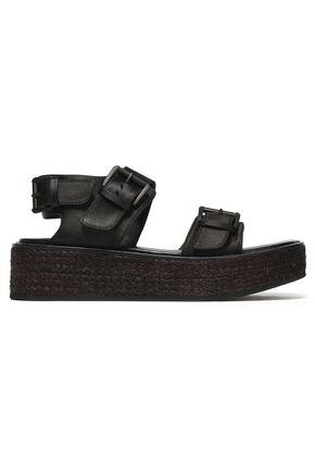 ANN DEMEULEMEESTER Suede platform sandals