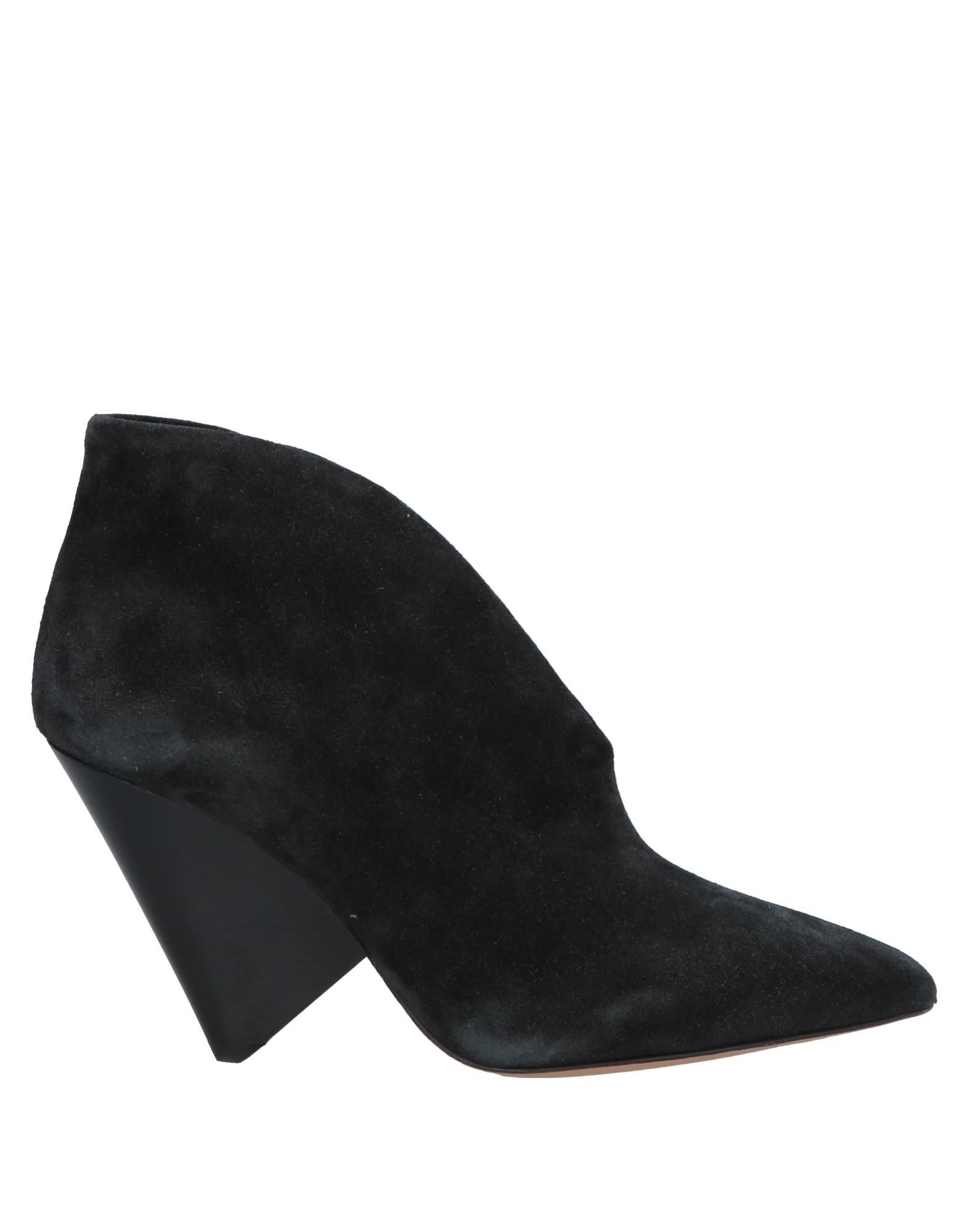 ISABEL MARANT Booties. suede effect, no appliqués, solid color, narrow toeline, cone heel, leather lining, leather sole, contains non-textile parts of animal origin, small sized. Soft Leather