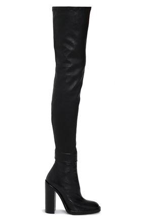 ANN DEMEULEMEESTER Leather thigh boots