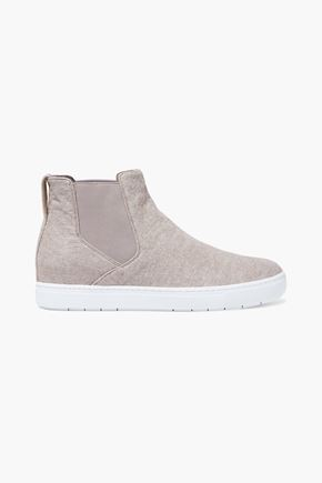 VINCE. Newlyn wool-blend felt slip-on sneakers