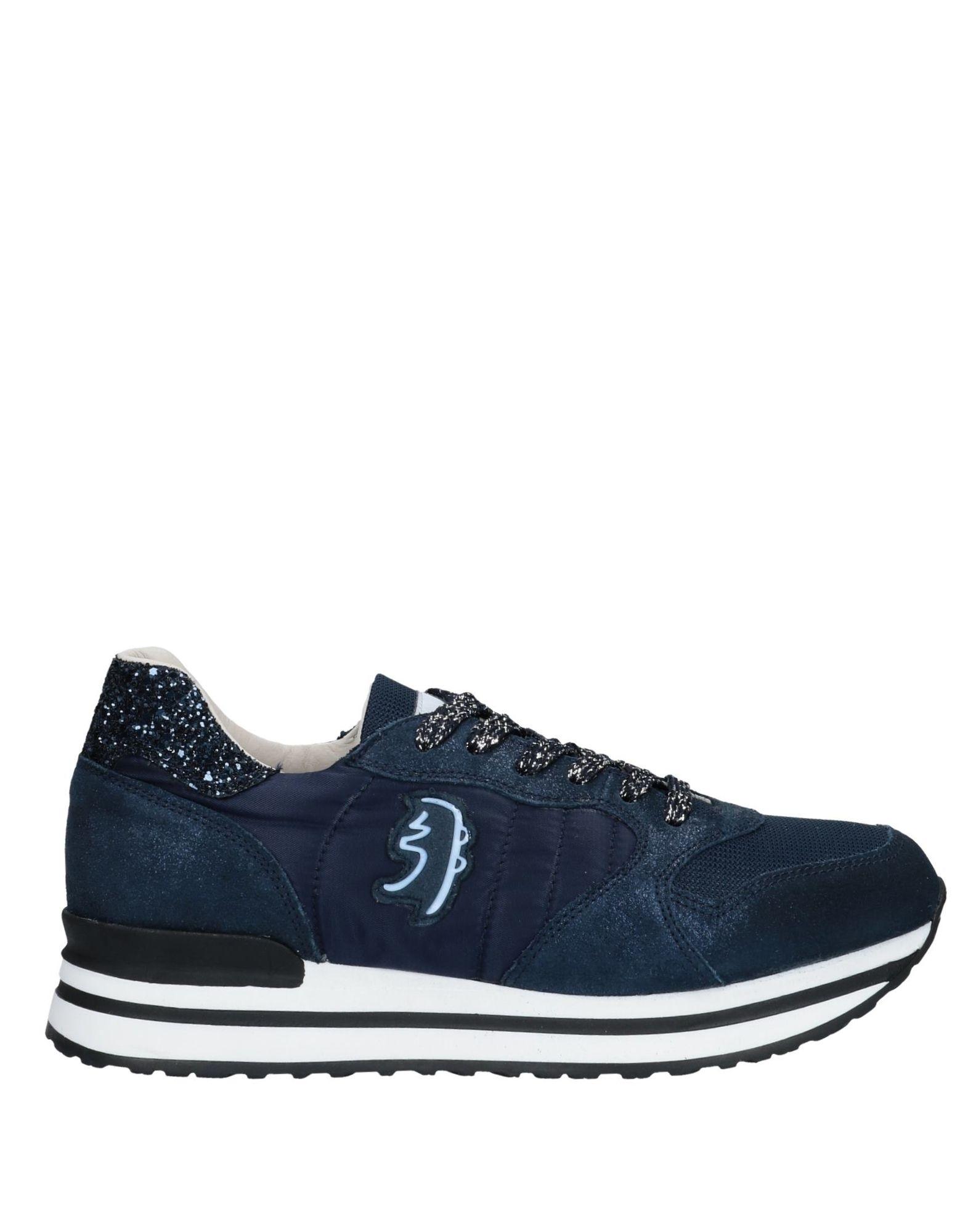 《送料無料》PRIMABASE レディース スニーカー&テニスシューズ(ローカット) ダークブルー 35 革 / 紡績繊維