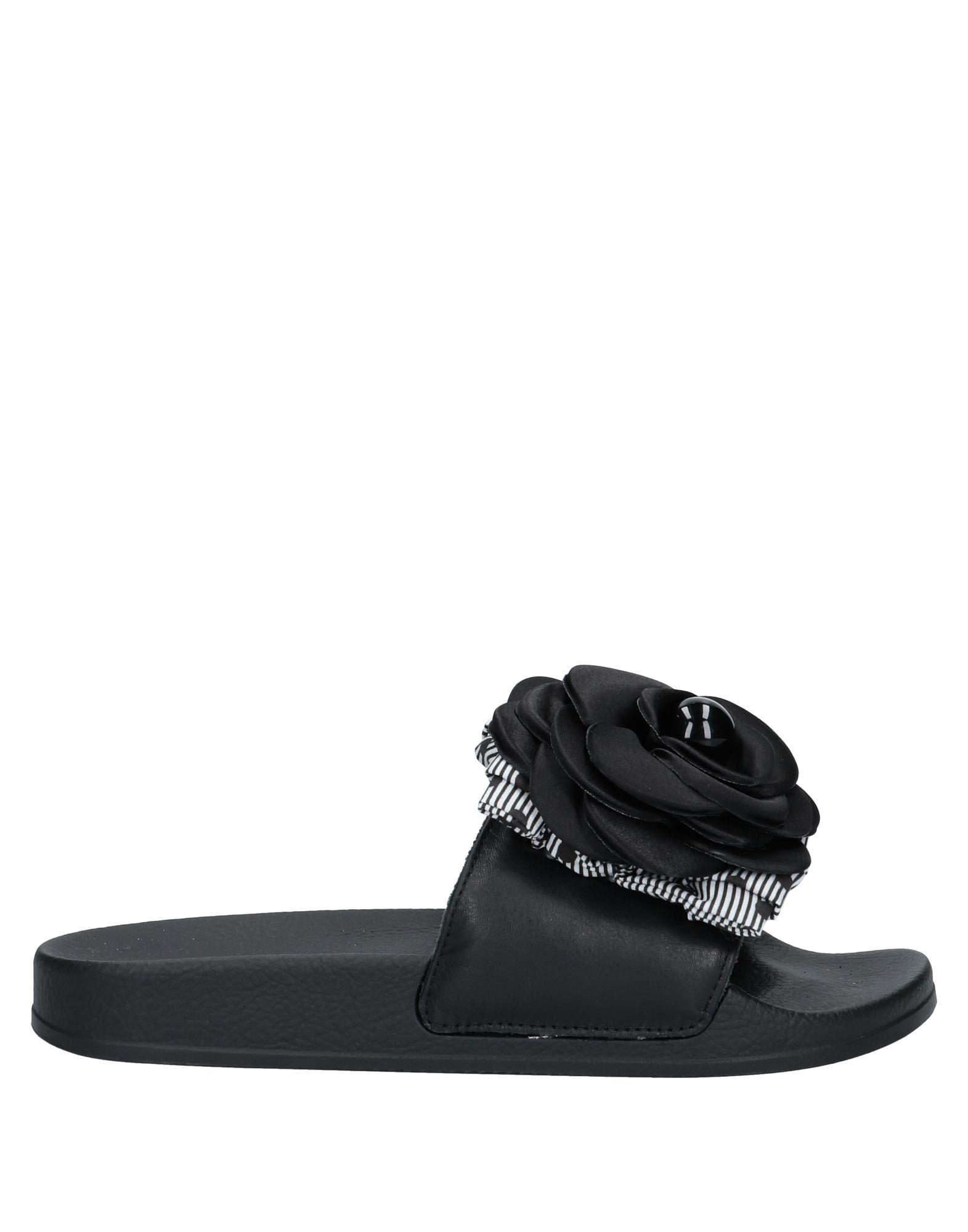 《セール開催中》POKEMAOKE レディース サンダル ブラック 36 革 / 紡績繊維