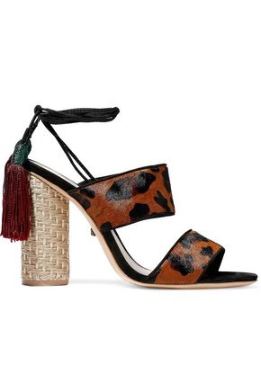 SCHUTZ Gaby leopard-print calf hair sandals
