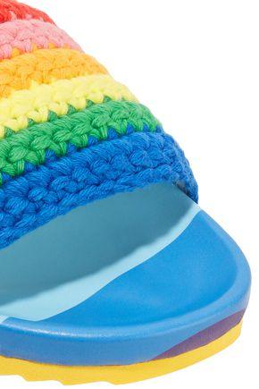 MIRA MIKATI Crocheted slides
