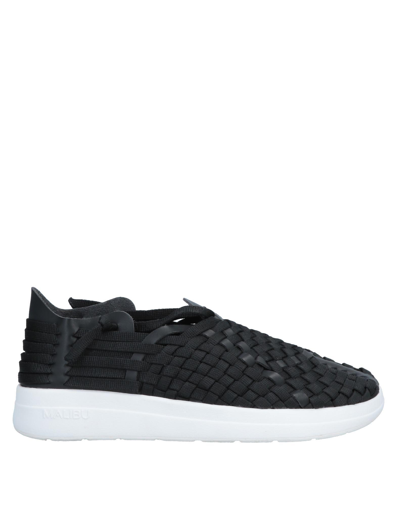 《送料無料》MALIBU SANDALS? メンズ スニーカー&テニスシューズ(ローカット) ブラック 8 紡績繊維