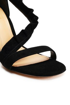 SCHUTZ Ruffled suede sandals