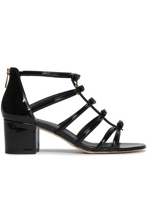 MICHAEL MICHAEL KORS Bow-embellished patent-leather sandals