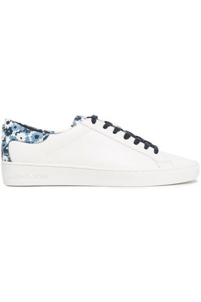 MICHAEL MICHAEL KORS Floral print-paneled leather sneakers