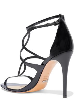 SCHUTZ Rania cutout patent-leather sandals