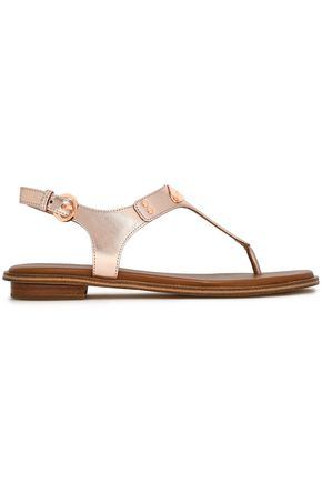 MICHAEL MICHAEL KORS Metallic textured-leather sandals