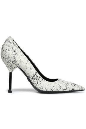 MICHAEL KORS COLLECTION Cracked-leather pumps