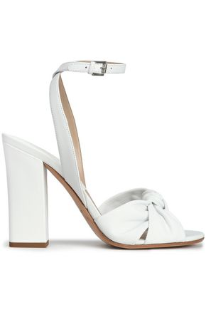 MICHAEL KORS | Michael Kors Collection Knotted Leather Sandals | Goxip