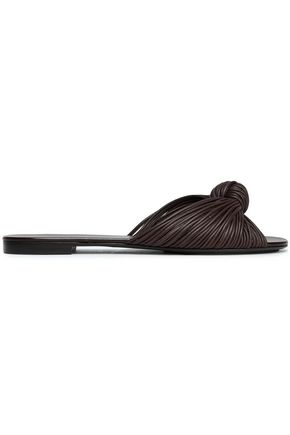 MICHAEL KORS COLLECTION Knotted leather slides