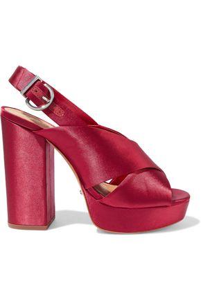 SCHUTZ Millie satin platform slingback sandals