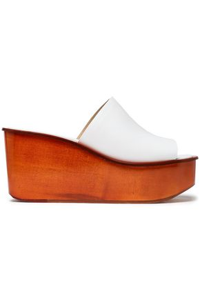 MICHAEL KORS COLLECTION Leather wedge mules
