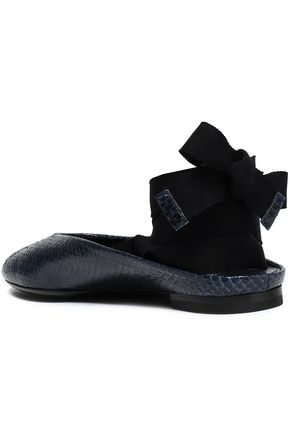 MICHAEL KORS COLLECTION Snakeskin slippers