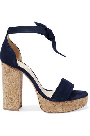 ALEXANDRE BIRMAN Celine suede and cork platform sandals