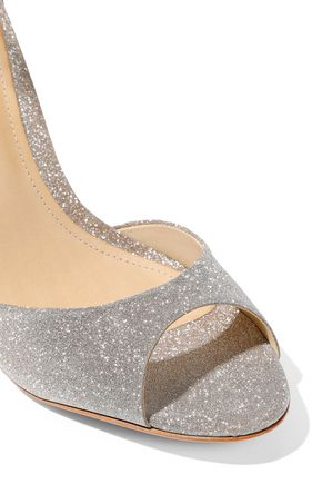 SCHUTZ Saasha Lee glittered satin sandals