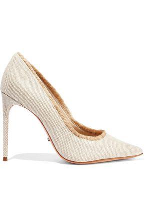 SCHUTZ Zeyna frayed canvas pumps