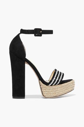 ALEXANDRE BIRMAN Alice jute-trimmed suede platform sandals