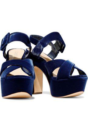 SCHUTZ Larissa velvet platform sandals