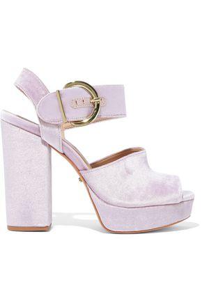 SCHUTZ Thaise velvet platform sandals