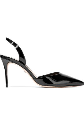 SCHUTZ Maysha patent-leather slingback pumps