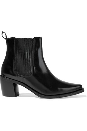 ALEXACHUNG Glossed-leather ankle boots