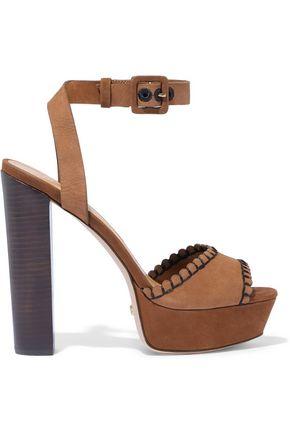 SCHUTZ Nelli suede platform sandals
