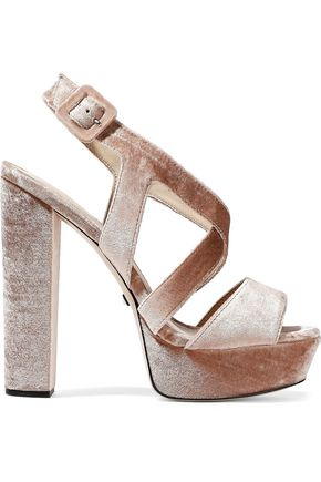 SCHUTZ Libby velvet platform sandals