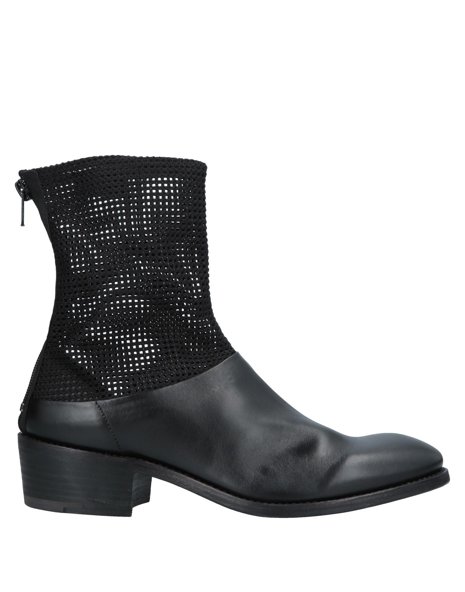 《送料無料》PREMIATA メンズ ショートブーツ ブラック 7 紡績繊維 / 革