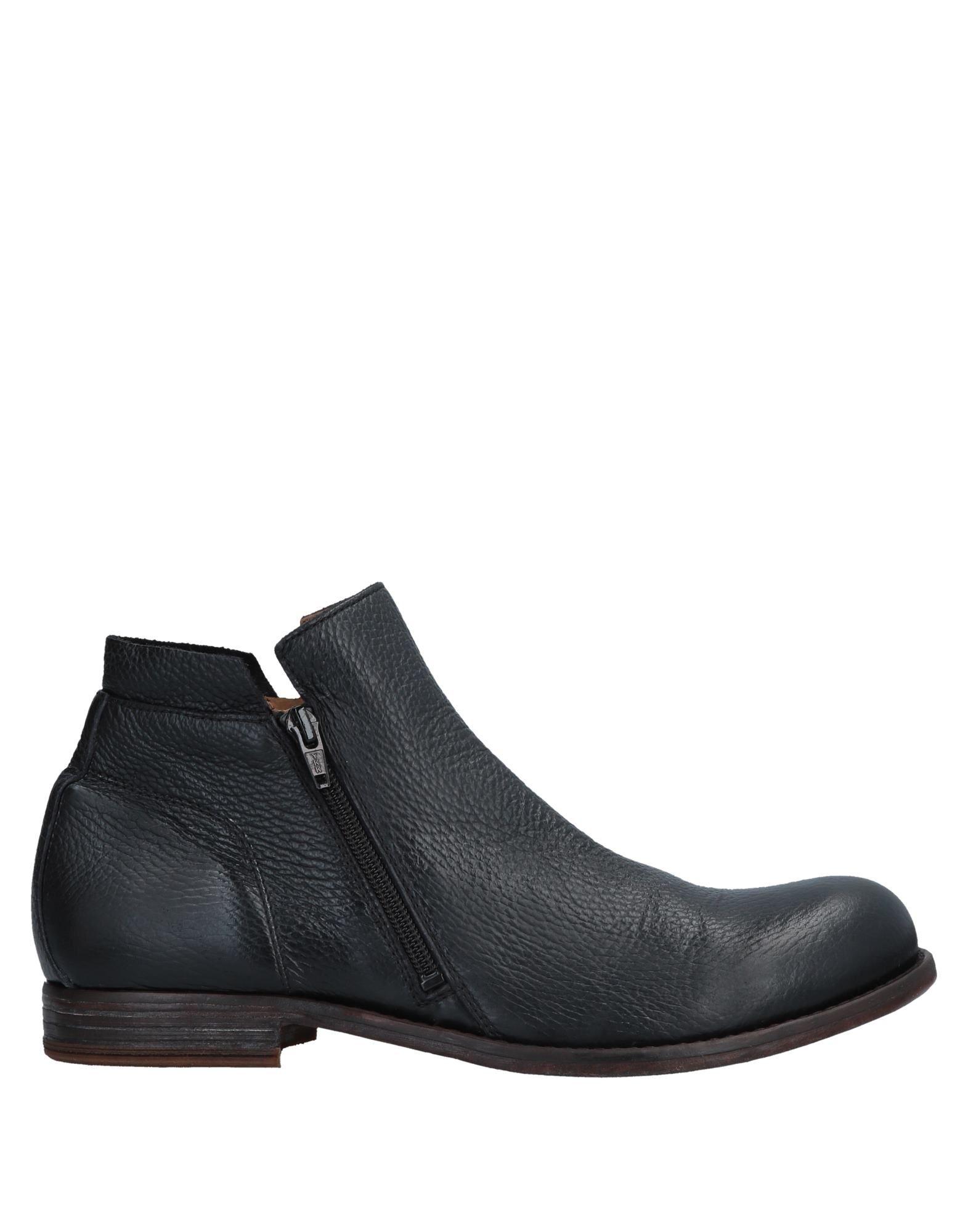 《送料無料》MOMA メンズ ショートブーツ ブラック 39 牛革(カーフ)