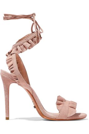 SCHUTZ Irem ruffled suede sandals