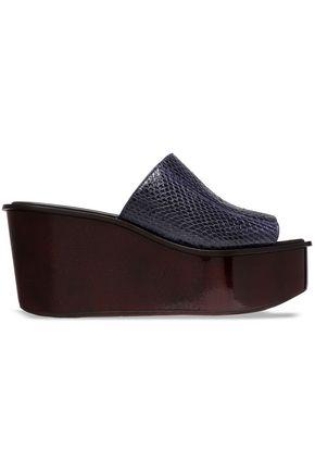 MICHAEL KORS COLLECTION Snakeskin platform sandals
