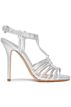 MICHAEL KORS COLLECTION Knotted metallic leather sandals