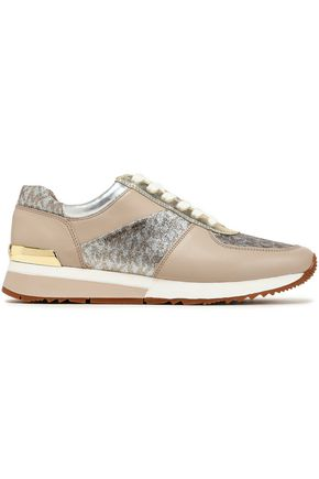 f6790b0e56d0c MICHAEL MICHAEL KORS Glittered smooth and metallic leather sneakers
