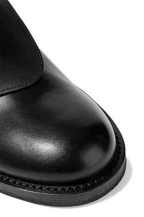 ANN DEMEULEMEESTER Cutout leather brogues