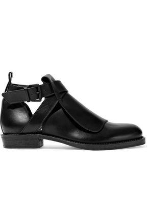 ANN DEMEULEMEESTER Cutout leather brogues