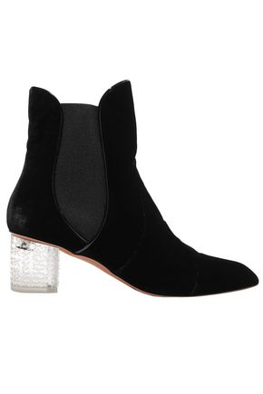 ALAÏA Velvet and Perspex ankle boots