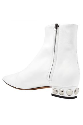 ELLERY Springfield studded leather ankle boots