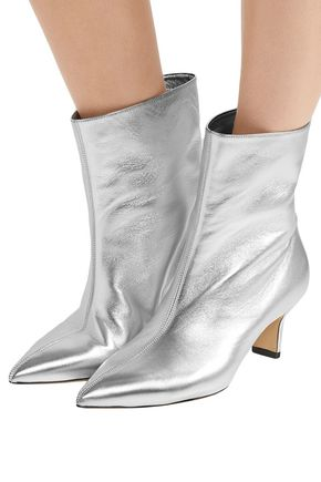 PAUL ANDREW Mangold metallic leather ankle boots