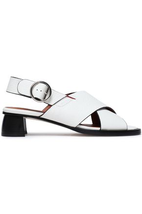 JOSEPH Cross leather slingback sandals