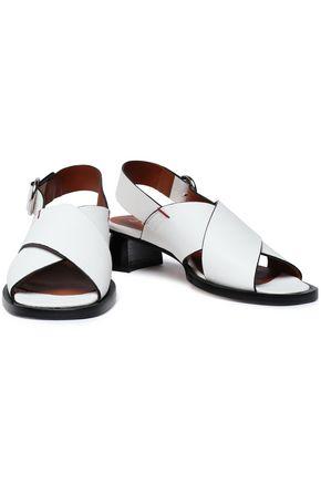 JOSEPH Cross leather slingback sandals