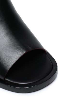 JOSEPH Cutout leather mules