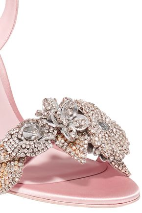 2e170975c99 Lilico crystal-embellished satin sandals   SOPHIA WEBSTER   Sale up ...