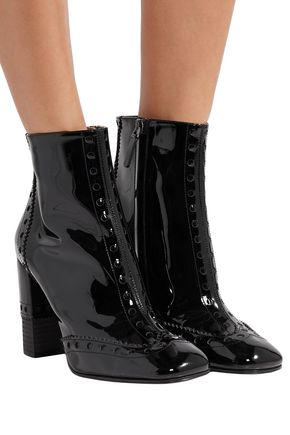 CHLOÉ Perry patent-leather ankle boots