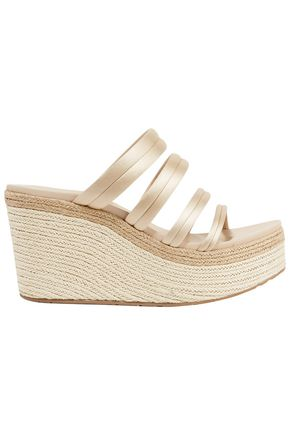 PEDRO GARCÍA Dante satin espadrille wedge sandals