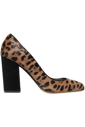 TABITHA SIMMONS Lydia leopard-print calf hair and suede pumps